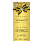 Elegant Gold Bow 50th Anniversary Party Custom Announcement