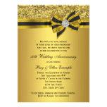 Elegant Gold Bow 50th Anniversary Party Invites