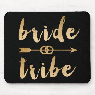 elegant gold bride tribe arrow wedding rings mouse mat