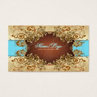 Elegant Gold & Brown Tones Vintage Frame 2 Business Card