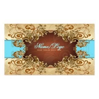 Elegant Gold & Brown Tones Vintage Frame 2 Pack Of Standard Business Cards