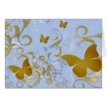 Elegant Gold Butterflies Greeting Card