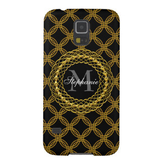 Elegant Gold Chains Personalized Galaxy S5 Case