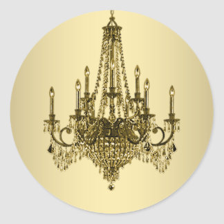 Elegant Gold Chandelier Stickers