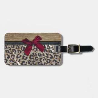Elegant Gold Cheetah Print Luggage Tag