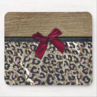 Elegant Gold Cheetah Print Mouse Mat
