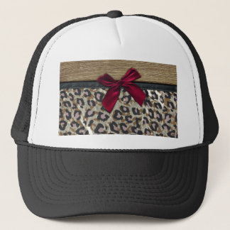 Elegant Gold Cheetah Print Trucker Hat