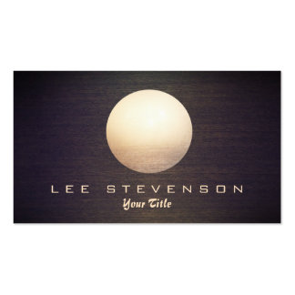 Elegant Gold Circle Sphere Wood Look Simple Modern Double-Sided Standard Business Cards (Pack Of 100)