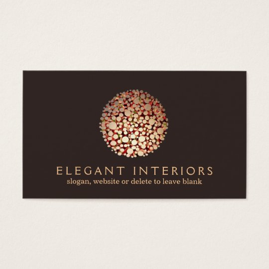 Elegant Gold Circles Sphere Interior Designer 3 Business