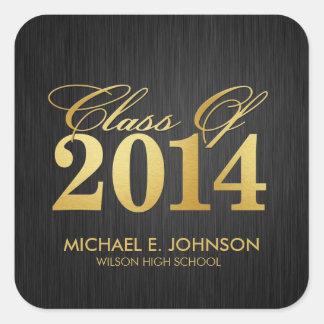"Elegant ""Gold"" Class of 2014 Graduation Square Sticker"