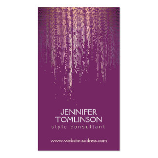 Elegant Gold Confetti Dots on Royal Purple Pack Of Standard Business Cards