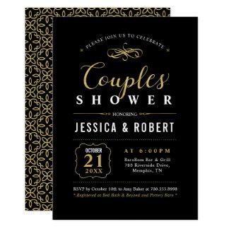 Elegant Gold Couples Wedding Shower Invitation