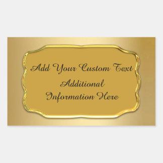 Elegant Gold Custom Seals And Stickers