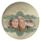 Elegant gold decorative photo plates for Mother