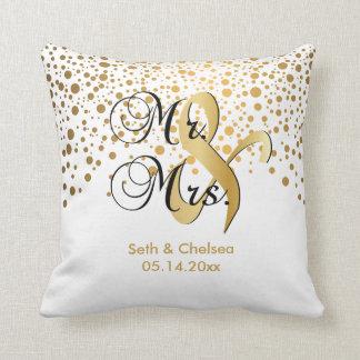 Elegant Gold Dots | Wedding | Personalize Cushion