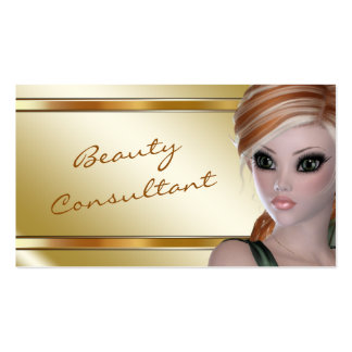 Elegant Gold Fantasy Beauty Consultant Business Card