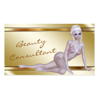 Elegant Gold Fantasy Faerie Beauty Consultant Business Cards