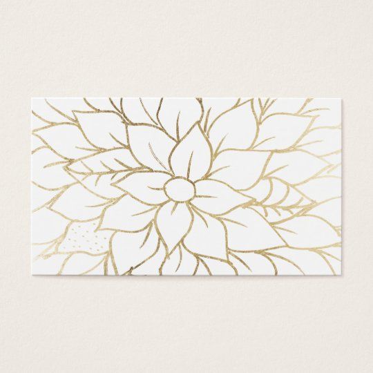 Elegant gold faux foil chic flourish pattern business