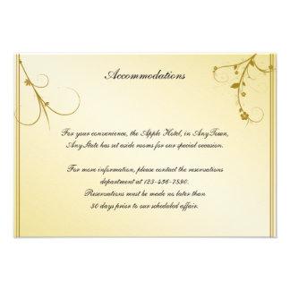 Elegant Gold Floral Gay Wedding Insert Invite