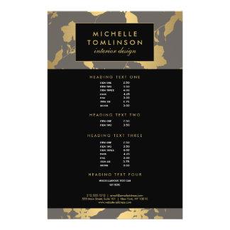 Elegant Gold Floral Pattern Gray Designer Flyer