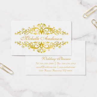 Elegant gold flourish business card