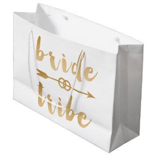 elegant gold foil bride tribe arrow wedding rings large gift bag