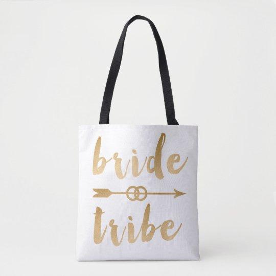 elegant gold foil bride tribe arrow wedding rings