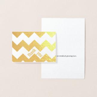 Elegant Gold Foil Chevron Thank You Note Card