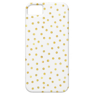 Elegant Gold Foil Confetti Dots iPhone 5 Cases