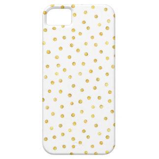 Elegant Gold Foil Confetti Dots iPhone 5 Cover