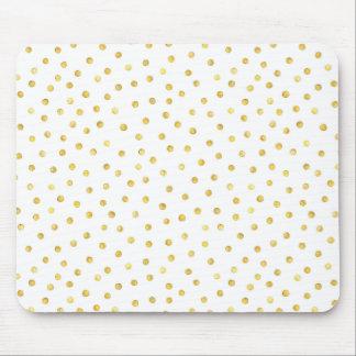 Elegant Gold Foil Confetti Dots Mouse Mat