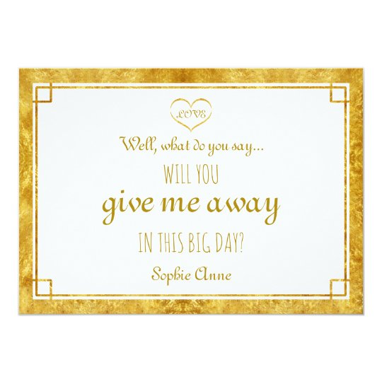 Elegant Gold Foil Heart Will You Give Me