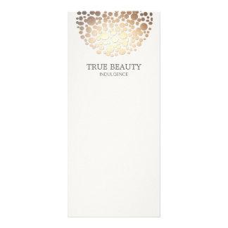 Elegant Gold Foil Look Circles Off White Custom Rack Cards