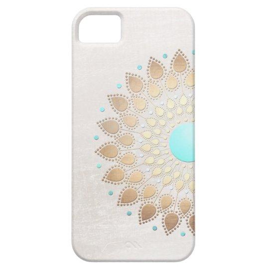 Elegant Gold Foil Look Lotus Flower iPhone 5
