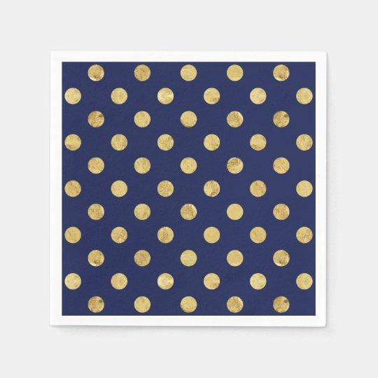 Elegant Gold Foil Polka Dot Pattern - Gold