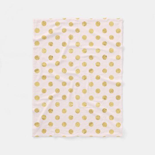 Elegant Gold Foil Polka Dot Pattern - Pink