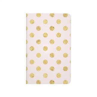 Elegant Gold Foil Polka Dot Pattern - Pink & Gold Journal