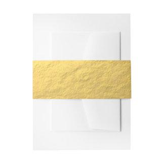 Elegant Gold Foil Printed Invitation Belly Band