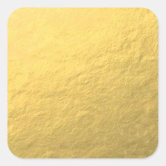 Elegant Gold Foil Printed Square Sticker