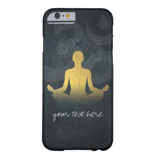 Elegant Gold Foil Yoga Meditation Pose Om Symbol Barely There iPhone 6 Case
