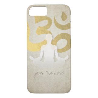 Elegant Gold Foil Yoga Meditation Pose Om Symbol iPhone 8/7 Case