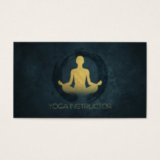 Elegant Gold Foil Yoga Meditation Pose ZEN Symbol Business Card