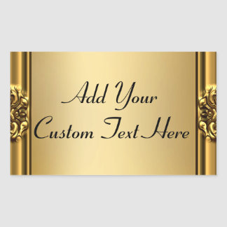 Elegant Gold Frame On Gold Stickers