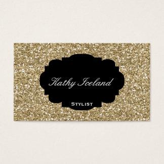 Elegant gold glitter business card