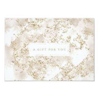 Elegant Gold Glitter Marble Gift Certificate Card