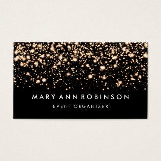 Elegant Gold Glitter Sparkles Event Organizer Business Card