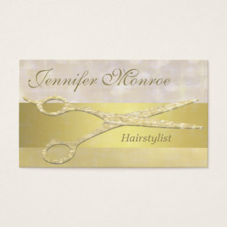 Elegant Gold Hairstylist Appointment Reminder