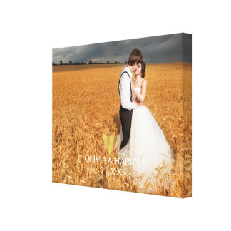 Elegant Gold Heart | Custom Photo Canvas