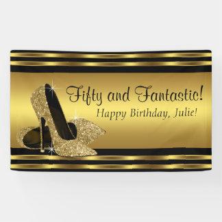 Elegant Gold High Heel Birthday Party