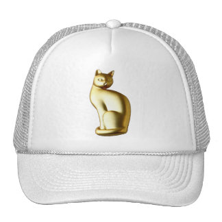 Elegant Gold Jeweled Cat Mesh Hat